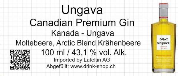 ungava TASTING Canadian Premium Gin 10 cl / 43.1% Kanada